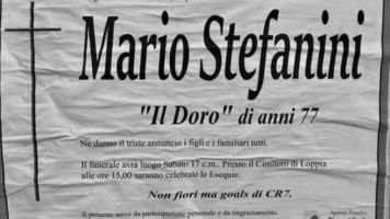 """La última voluntad de un aficionado de la Juventus: """"No quiero flores sino goles de CR7"""""""
