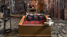You can spend Halloween sleeping in a coffin