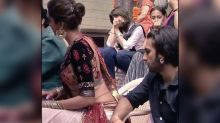 Ranveer Singh Caught 'Ogling' At Deepika Padukone's Backless Choli In This Pic From The Sets Of Ram-Leela; Deepika Reacts