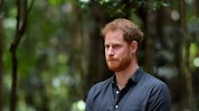 The awkward moment that left Prince Harry blushing on royal tour