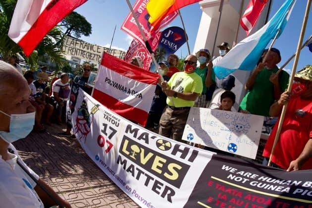 Polynésie française: des victimes des essais nucléaires attendent une demande de pardon d'Emmanuel Macron