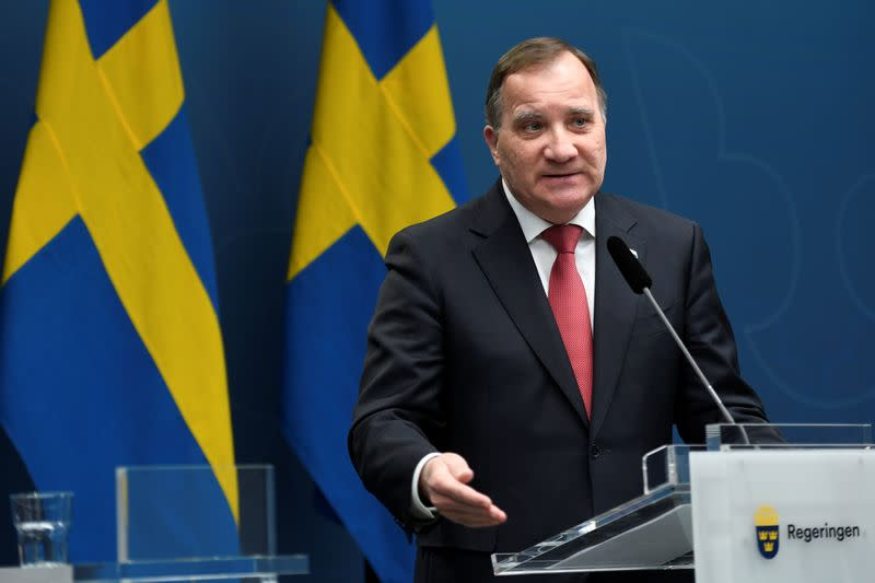 Signs COVID cases rising in Sweden again 'worrying' says PM Lofven