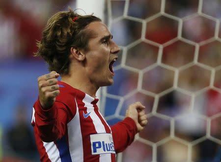 Antoine Griezmann comemora gol do Atlético de Madri