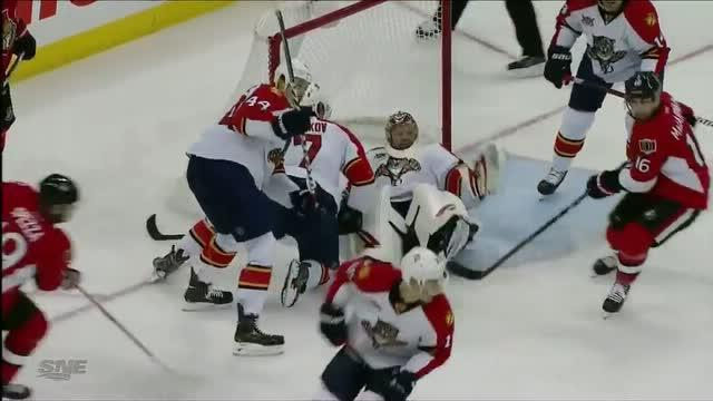 Tim Thomas denies Jason Spezza