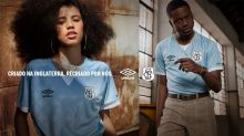 Santos lança terceiro uniforme com escudo retrô; veja imagens da camisa