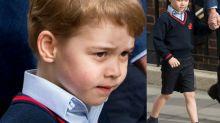 """Le prince George portait un short pour une raison """"oh so British"""" lorsqu'il a rencontré son petit frère"""