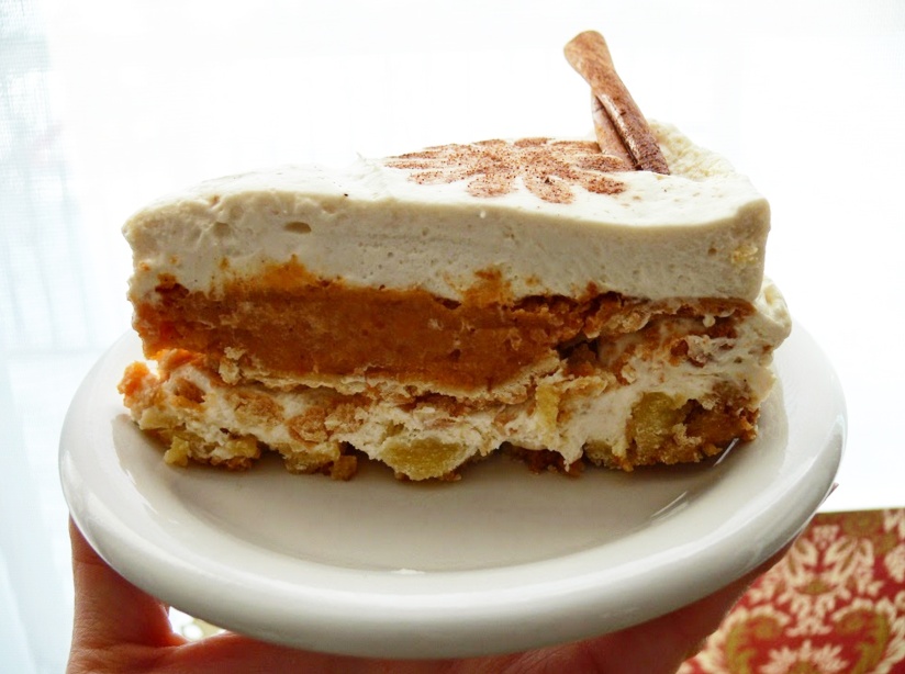 """<p>For the most basic version of a piecaken, stick to just one pie and one cake. This combo's a winner … and, if you, like the blogger behind <a href=""""http://piecaken.blogspot.com/2015/01/nearly-no-bake-cheesecake-with-pumpkin.html"""" rel=""""nofollow noopener"""" target=""""_blank"""" data-ylk=""""slk:Piecaken"""" class=""""link rapid-noclick-resp"""">Piecaken</a>, cheat a bit by <i>buying</i> a pumpkin pie, this masterpiece takes only 20 minutes to whip up! <a href=""""http://piecaken.blogspot.com/2015/01/nearly-no-bake-cheesecake-with-pumpkin.html"""" rel=""""nofollow noopener"""" target=""""_blank"""" data-ylk=""""slk:Check out the recipe"""" class=""""link rapid-noclick-resp"""">Check out the recipe</a>. <i>(Photo: <a href=""""http://piecaken.blogspot.com/2015/01/nearly-no-bake-cheesecake-with-pumpkin.html"""" rel=""""nofollow noopener"""" target=""""_blank"""" data-ylk=""""slk:Piecaken"""" class=""""link rapid-noclick-resp"""">Piecaken</a>)</i></p>"""