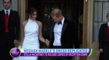 Meghan Markle's reception gown replica