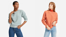 Everlane's fleece sweatshirts are a sustainable fashion-lover's dream