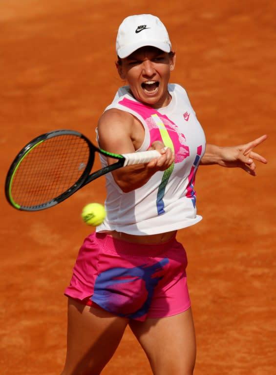 Romania's Simona Halep reached a third Rome final.