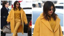 Priyanka Chopra Flaunts Heart-shaped Mangalsutra Over Mustard Outfit on Streets of London
