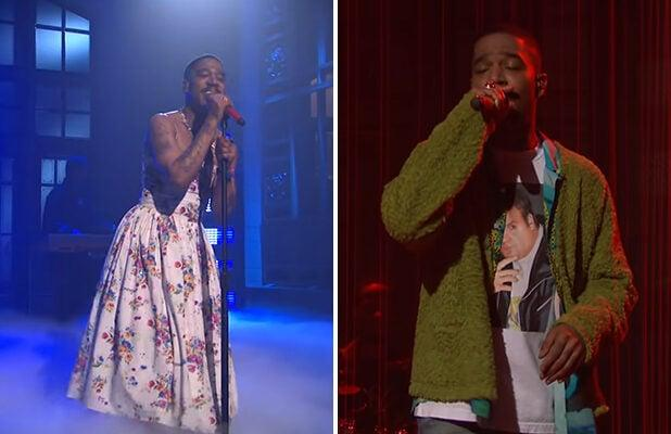 'SNL': Kid Cudi Pays Tribute to Kurt Cobain, Chris Farley With Bold Fashion Statements