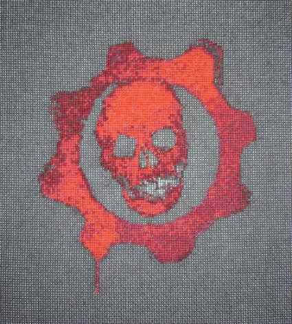 Gears of War -- single-player cross-stitching action