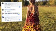 Vestido de noiva cheio de girassóis viraliza nas redes