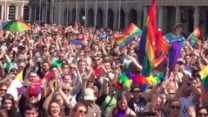 Supporters Cheer Ireland's Most Prominent Gay Rights Campainger