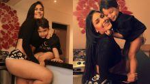 """Flay rebate seguidor em foto com o filho: """"Mães não podem mostrar o corpo?"""""""
