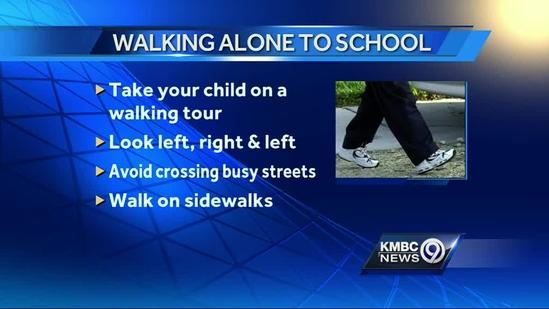 Safety reminders for walking to school