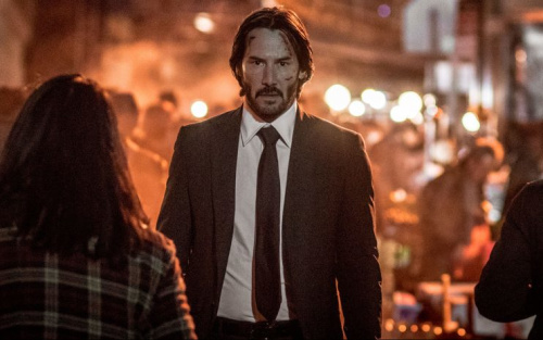 Keanu's back as deadly assassin John Wick (Credit: Warner Bros.)