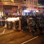 Hong Kong police fire rubber bullets, tear gas as protests descend into chaos