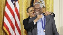 Bill Russell, Medal of Freedom and all, takes a knee 'to stand tall against social injustice'