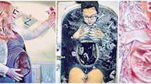 This App Lets You Turn Your Baby Bump Into a Work of Art