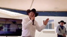 Trump shares video of cowboy activist saying 'the only good Democrat is a dead Democrat'