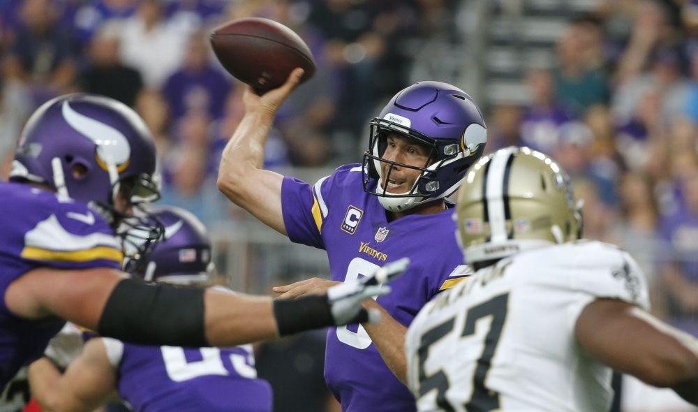 Sam Bradford had a very good game in the Vikings' season opener on Monday night. (AP)