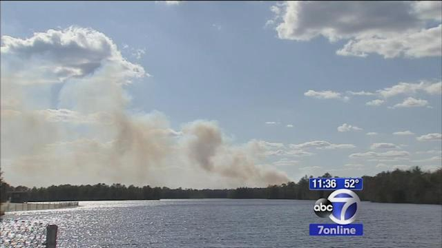 Wharton State Park forest fire only 50 percent contained