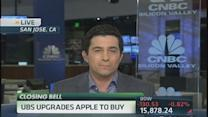 Apple goes green in a sea of red