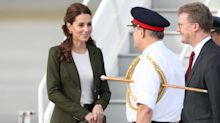Duchess of Cambridge wears Meghan's favourite fashion label to arrive in Cyprus