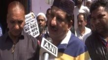 Congress MLA Arif Masood distributes posters reading 'No CAA, No NPR, No NRC' in Bhopal