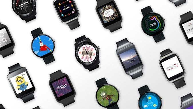 Android Wear's Lollipop update adds a slew of new watch faces