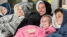 Shoppers can't get enough of this two-in-one sweatshirt blanket