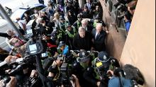 Queues, security for Pell court appearance
