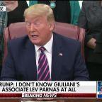 President Trump slams impeachment process, denies knowing Giuliani associate Lev Parnas