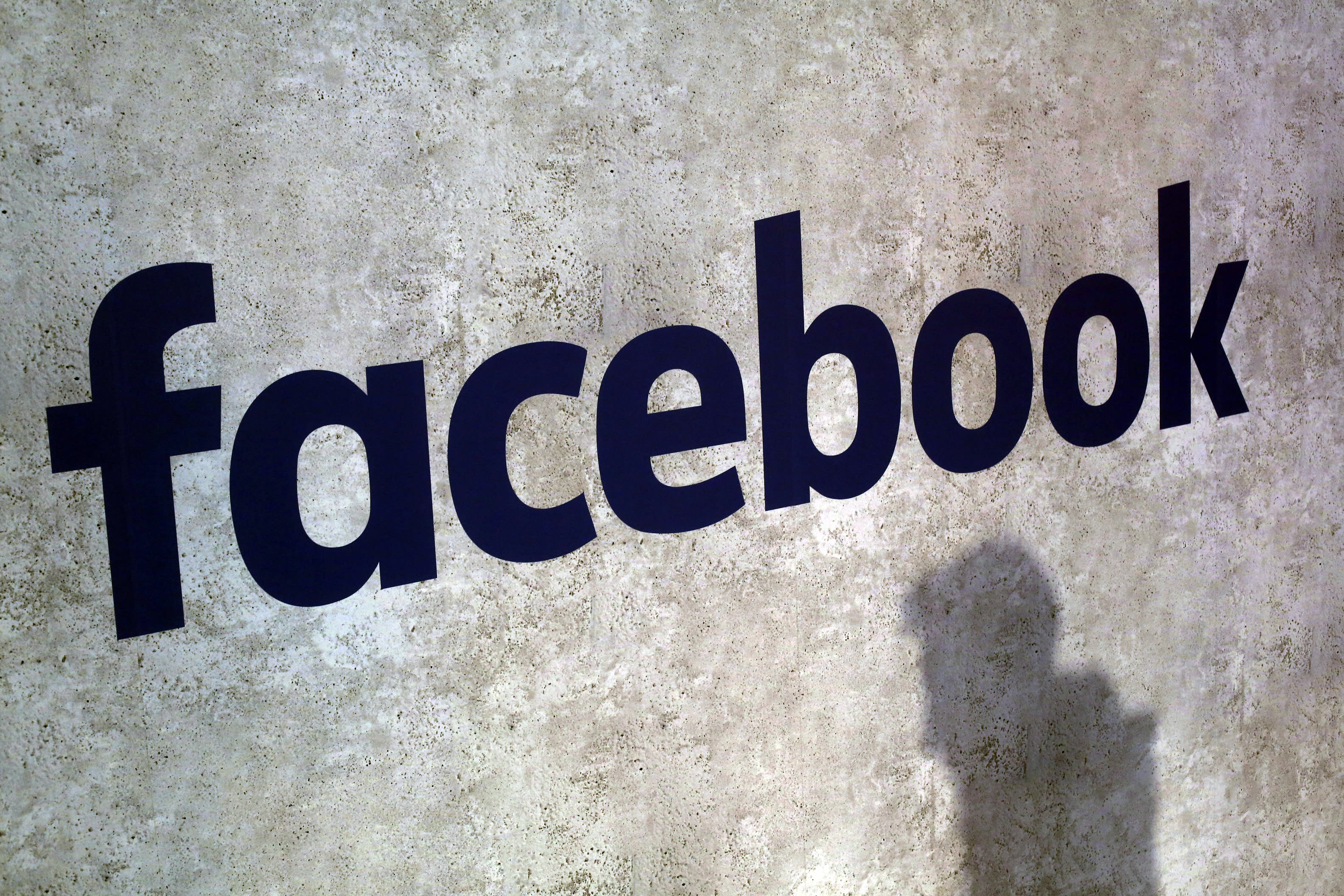 FILE - This Jan. 17, 2017, file photo shows a Facebook logo at Station F in Paris. Ever since Russian agents and other opportunists abused its platform in an attempt to manipulate the 2016 U.S. presidential election, Facebook has insisted, repeatedly, that it's learned its lesson and is no longer a conduit for misinformation, voter suppression and election disruption. (AP Photo/Thibault Camus, File)