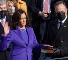 Vice President Kamala Harris was sworn in with 2 Bibles held by husband Doug Emhoff. Here's a timeline of their relationship.