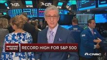 S&P 500 hits record high on stronger-than-expected earnings