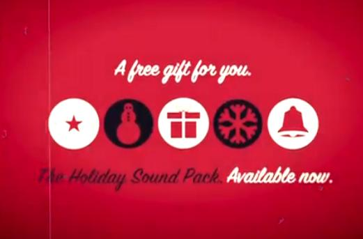 Sound Shapes Holiday Sound Pack is a free gift to you