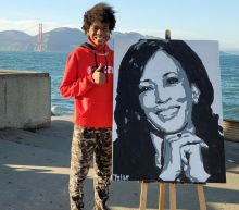 'She called me!!!!!': Vice President-elect Kamala Harris phones California teen to thank him for painting her portrait