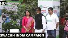 Bollywood Legend Amitabh Bachchan At NDTV Swachh India Campaign
