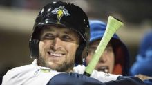 Tim Tebow's first minor-league baseball card is out, but tough to find