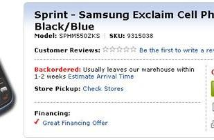 Samsung Exclaim gets official -- the Best Buy way