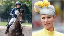 Shock as Zara Tindall falls off horse