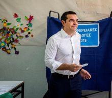 Greek EU vote slams Tsipras, rewards conservatives: exit polls