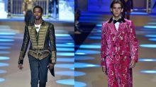 Mailand Fashion Week: Promisöhne laufen für Dolce & Gabbana