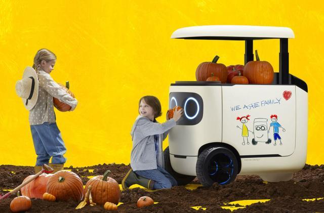 Honda's cutesy robot cooler keeps drinks within reach