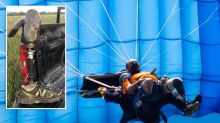 'Needle in a Haystack': Farmer finds skydiver's missing leg after Facebook post