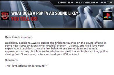 Survey reveals new direction for PSP ads