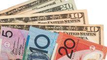 Aussie dollar breaks trendline during Monday session